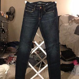 Skinny stretch jeans.